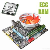 Материнская плата E5 V5.32 / socket LGA1356 с процессором Intel Xeon E5-2430 / 6(12) ядра по 2.2-2.7GHz / 15Mb cache и 16GB DDR3 ECC ОЗУ