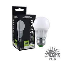 Светодиодная лампа TESLER 10W, цоколь Е27, 820LM