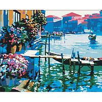 """Картина по номерам. """"Утро в Венеции"""" 40*50см KHO227"""