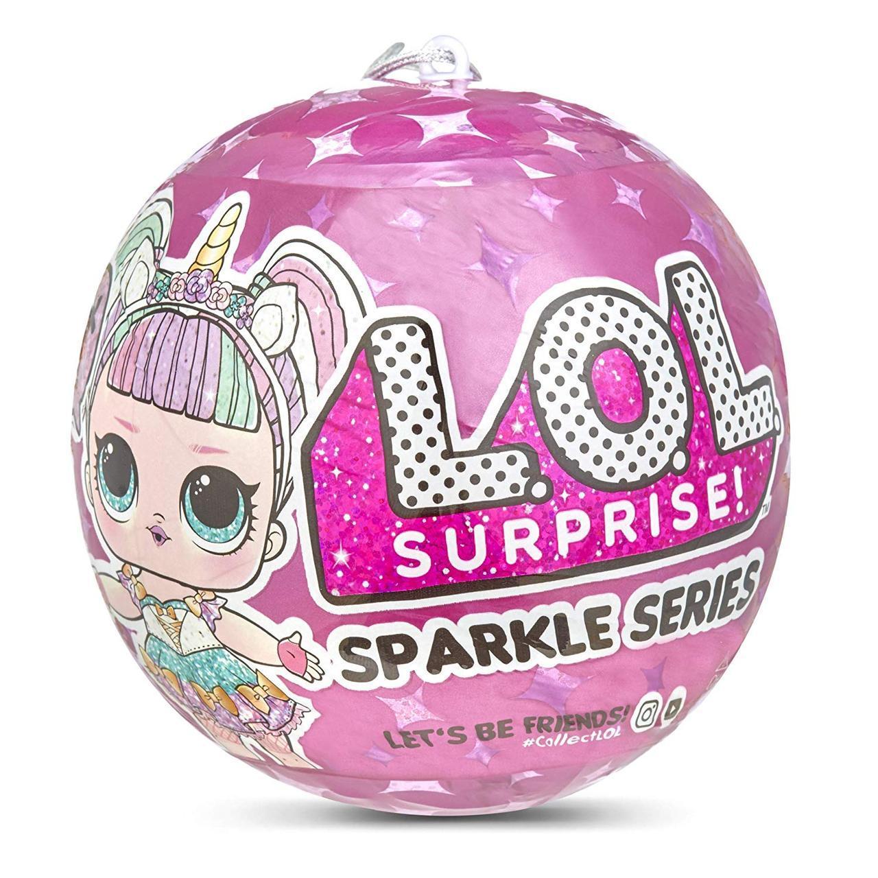 ЛОЛ Сюрприз!Оригинал! Кукла LOL  Спаркл серия А разноцветные блестящие L.O.L. Surprise! Dolls Sparkle Serie