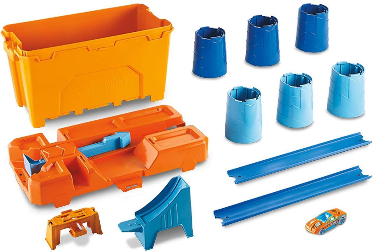 Трек Хот Вилс Строительная коробка для трюков Hot Wheels Track Builder Barrel Box