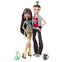 Кукла Monster High Клео Де Нил и Дьюс Базовые с питомцем Cleo & Deuce Basic