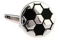Запонки Футбольный мяч white,магазин запонок