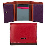 Маленький женский кожаный кошелек с RFID защитой Kafa (413 red-coffee)