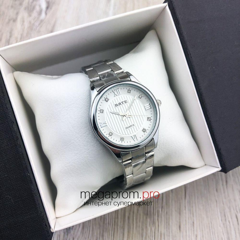Жіночий кварцевий годинник Rate золото з білим циферблатом (08150) оригінал