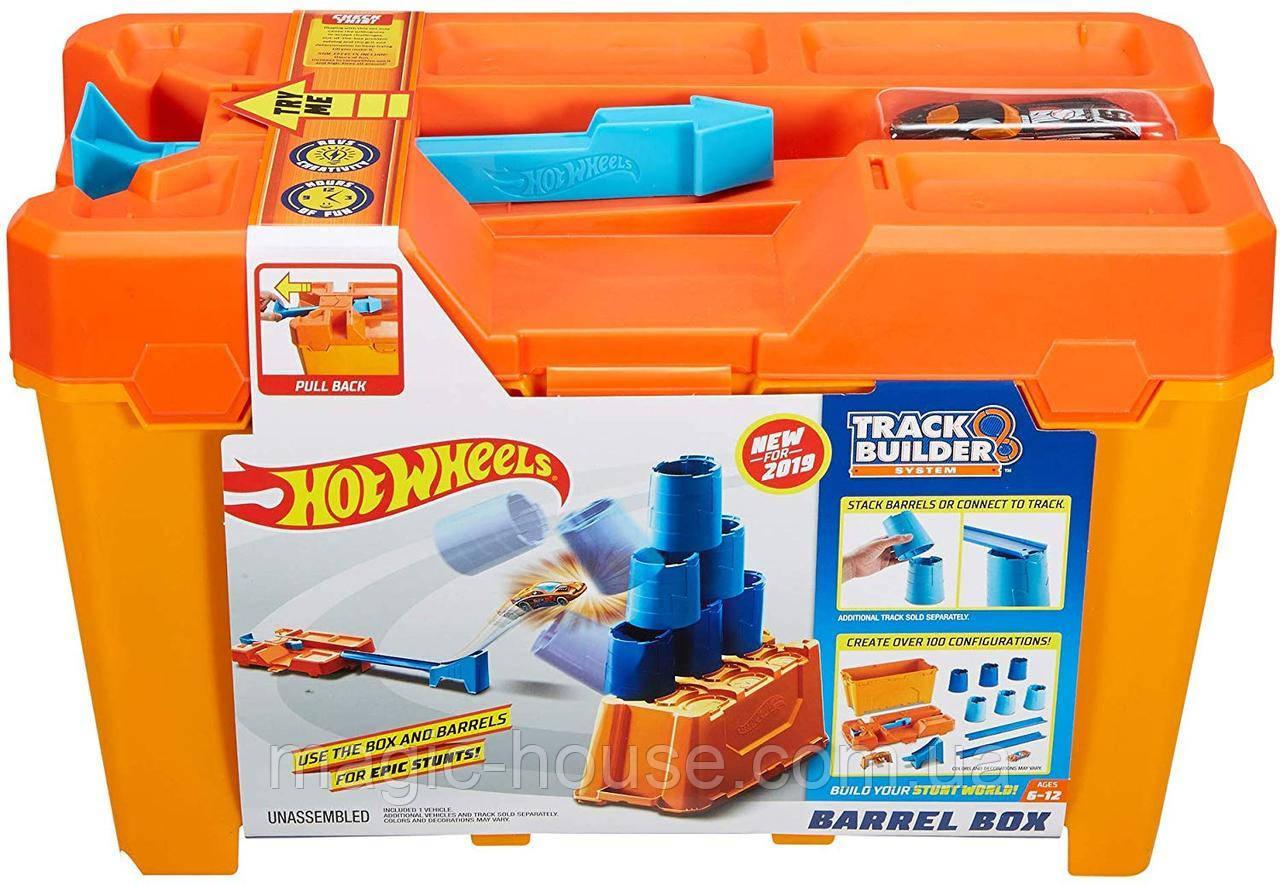 Hot Wheelsящик для трюковХот Вилс Track Builder Barrel Box