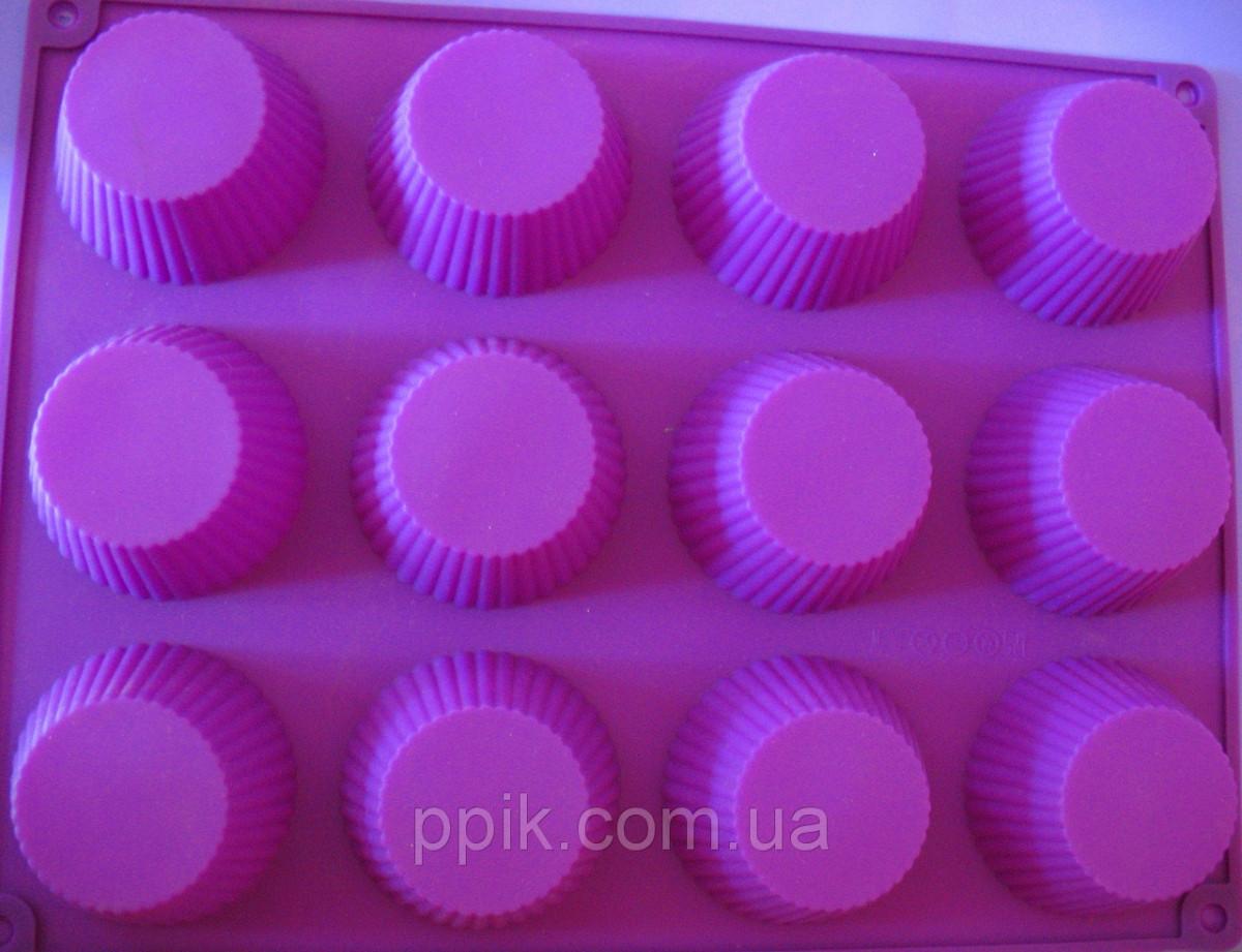 Форма силиконовая кексы из 12 шт.
