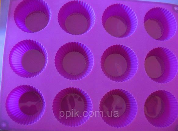 Форма силиконовая кексы из 12 шт., фото 2