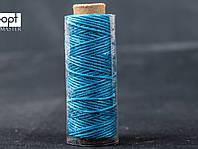 Нитка вощёная 1548-22 (плоский шнур), т. 0.8 мм, 50 м, цв. ярко-синий