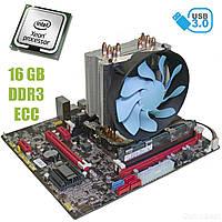 Материнская плата E5-3.5С / socket LGA2011 с процессором Intel Xeon E5-2640 / 6(12) ядра по 2.5-3.0GHz / 15Mb cache и 16GB DDR3 ECC ОЗУ