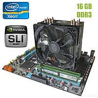 Материнская плата Е5-3.2S1 / socket LGA2011 с процессором Intel Xeon E5-1650 / 6(12) ядер по 3.2-3.8GHz / 12Mb cache и 16GB DDR3 ОЗУ