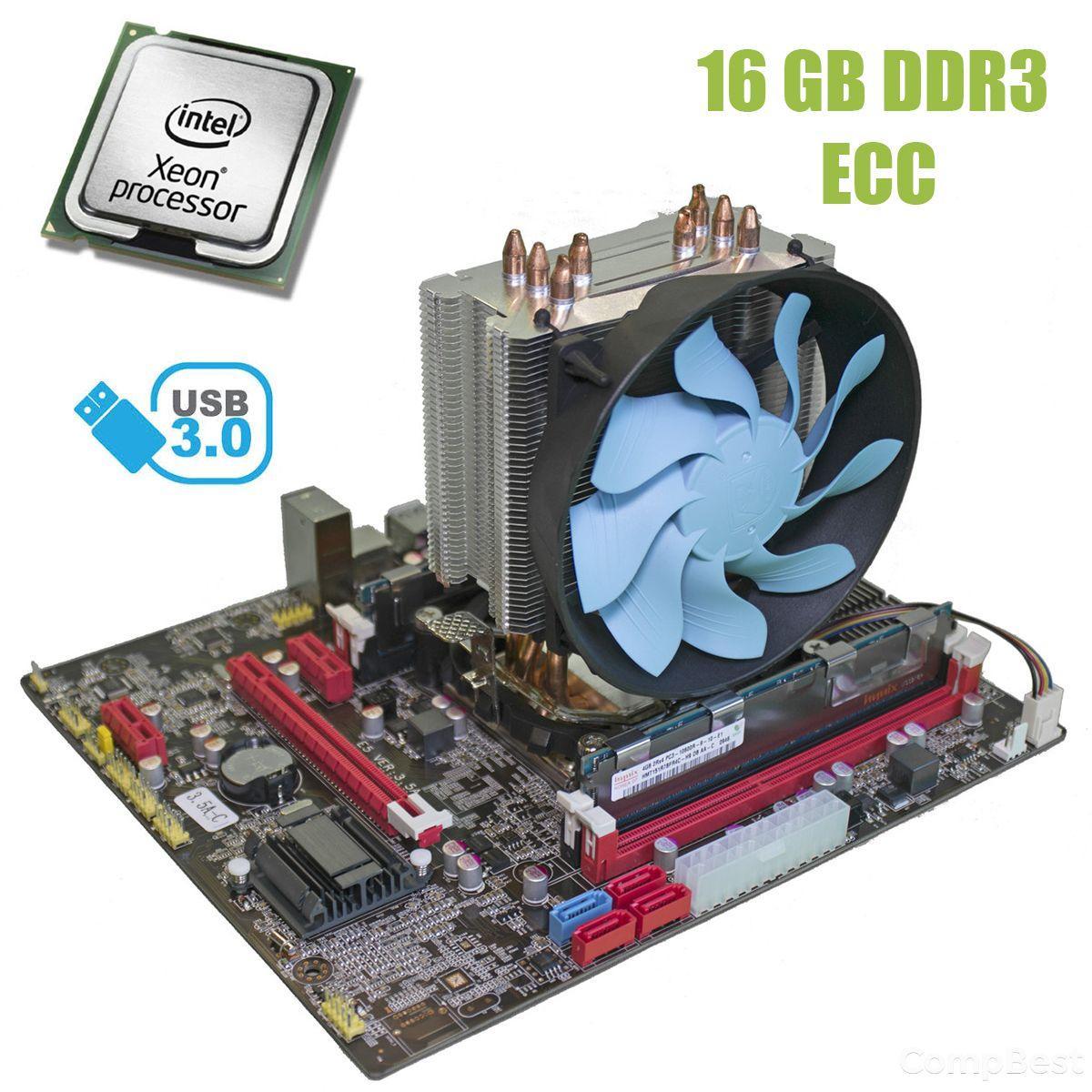 Материнская плата Х79 3.5 / socket LGA2011 с процессором Intel Xeon E5-2660 / 8(16) ядер по 2.2-3.0GHz / 20Mb cache и 16GB DDR3 ECC ОЗУ