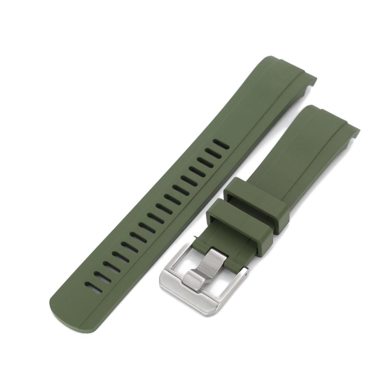 22 мм Crafter Blue зеленый каучуковый ремешок для Seiko SKX007, SKX009, SKX011