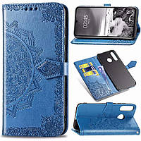 Чехол Vintage для Xiaomi Redmi 7 книжка кожа PU голубой, фото 1