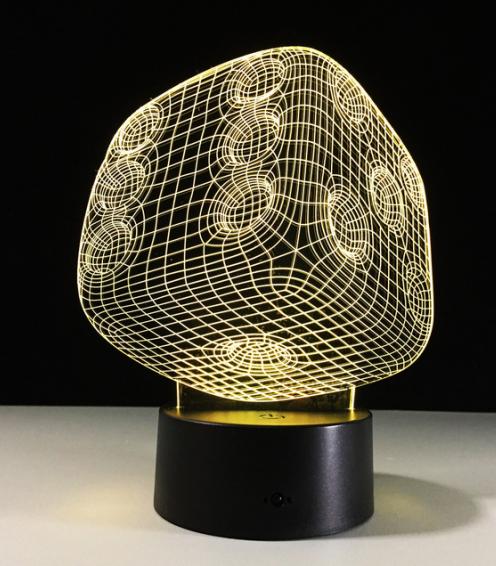 Настольный светильник с 3D эффектом 1095 (Игральная кость) | 3D ночник