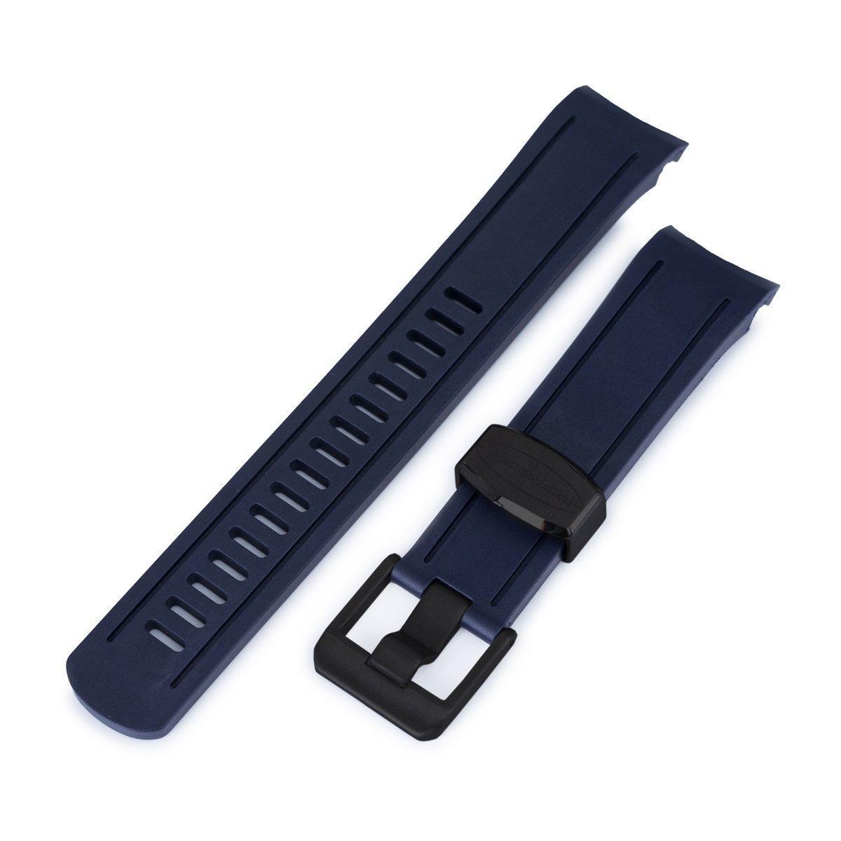 22 мм Crafter Blue темно-синий каучуковый ремешок для Seiko SKX007, SKX009, SKX011