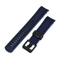 22 мм Crafter Blue темно-синий каучуковый ремешок для Seiko SKX007, SKX009, SKX011, фото 1