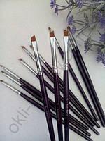 Кисть Synthetic  для бровей (синтетика) синяя ручка № 5