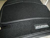 Ворсовые авто коврики в салон HYUNDAI Getz 2002- хюндай гетз основа резина