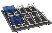 Комплект на 16 модулей на плоскую крышу.