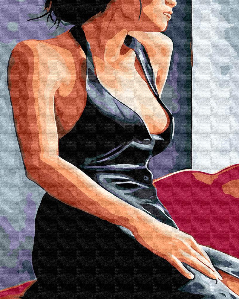 "Картина по номерам. Brushme ""Девушка у окна"" GX30473"