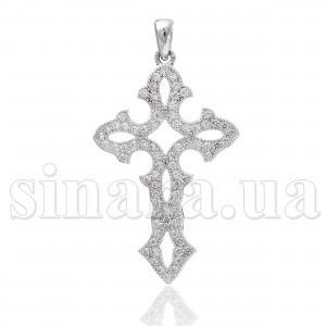 Декоративный серебряный крест с цирконием 28283
