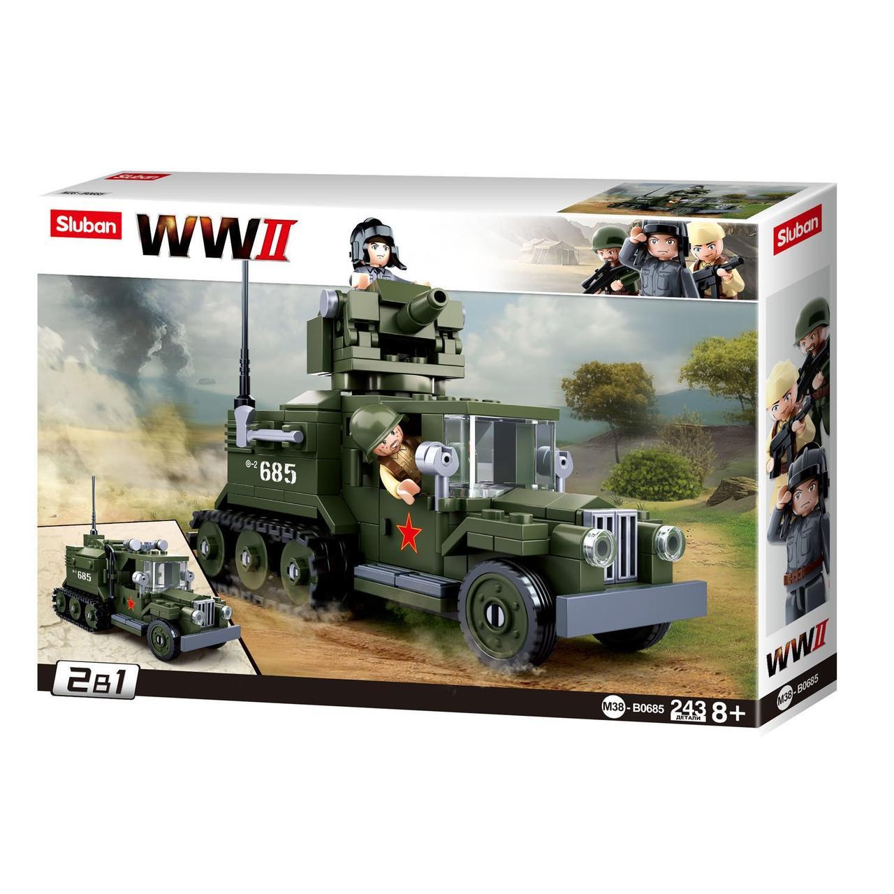 """Конструктор Sluban M38-B0685 Две военные машины """"Газ"""" 243 дет"""