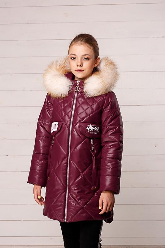 Зимняя куртка-пальто для девочек Кейт