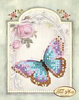 Схема для вышивки бисером Винтажная бабочка М-005