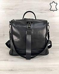 Кожаная  сумка-рюкзак WeLassie  Angelo черного цвета (K4574)