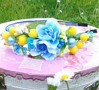 Ободок Подружка (голубой,  желто-голубой)
