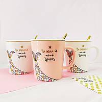 Кружки | Чашки | Оригинальные чашки и кружки | Керамическая чашка Gold Mermaids tail (выбор цвета)