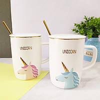 Кружки | Чашки | Оригинальные чашки и кружки | Керамическая чашка Unicorn Face (выбор цвета)