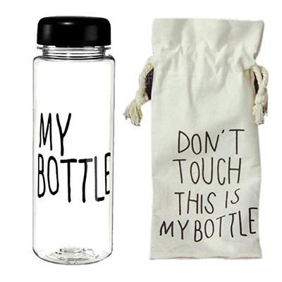 Бутылки для воды | Бутылка для питья спортивная | Спортивная бутылка с чехлом My bottle 360 черная