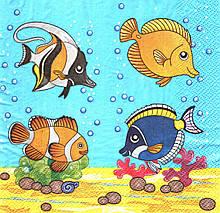 Салфетки декупажные Рыбки 4755