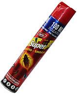 Дихлофосы от насекомых SUPER JET (400ml) инсектицид, без запаха, красный, фото 1