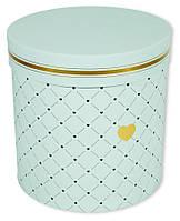 Круглая подарочная коробка D060-5 (21х21х21см )