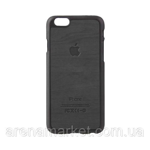 """Чохол-накладка для iPhone 6 4.7"""" з малюнком текстури дерева - чорний колір"""