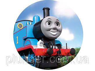 """Вафельная картинка для торта """"Паровозик Томас"""", (лист А4, толщина 0,3 мм)"""