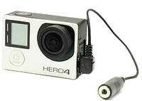 GoPro Hero 4 кабель, адаптер для подключение микрофона или петлички 3.5 мм