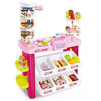 Детская игрушка Магазин 668-19-21 продукты, 40предм, сканер (батар) в короб 56*42*14см