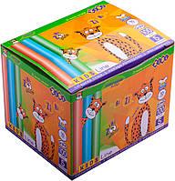 Набор мелков цветной детский для доски, школы, асфальта 100 шт в картон. короб. ZB6716-99