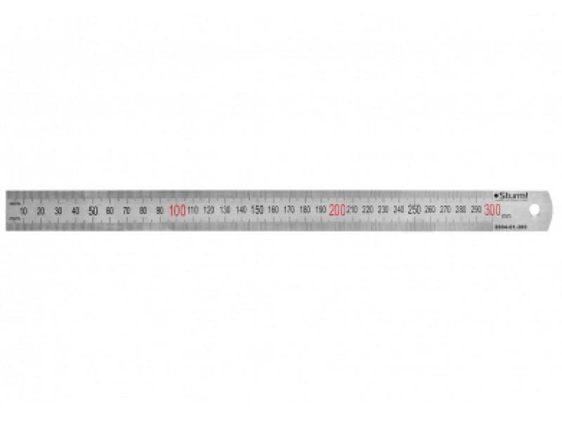 Линейка металлическая Sturm,  300 мм 2040-01-300