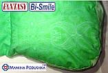 Подушка для беременных Fantasy Bi-Smile. В комплекте Наволочка 2-сторонняя (Салатовые узоры / Салатовые точки), фото 2