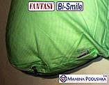 Подушка для беременных Fantasy Bi-Smile. В комплекте Наволочка 2-сторонняя (Салатовые узоры / Салатовые точки), фото 5