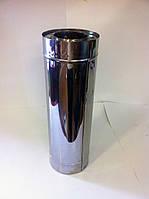 Труба из нержавейки в нержавейке 0,6 мм+0,6 мм Ø160/100 (сэндвич) 500 мм