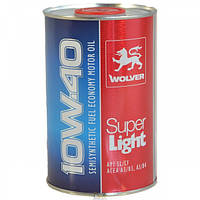 Моторное масло Wolver Super Light 10w40, 1л