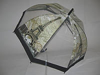 Прозрачный зонт - трость города