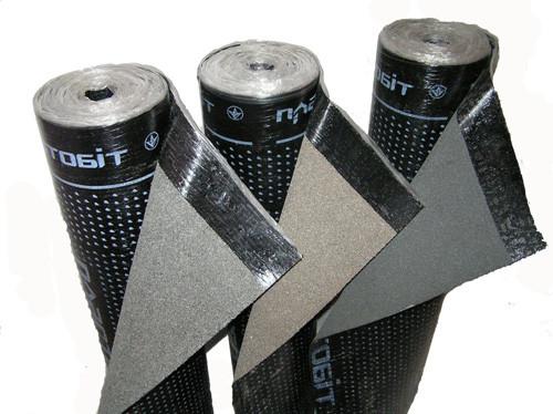 Полипласт ХКП сланец серый; 4,0; стеклохолст (9 кв.м/рулон)