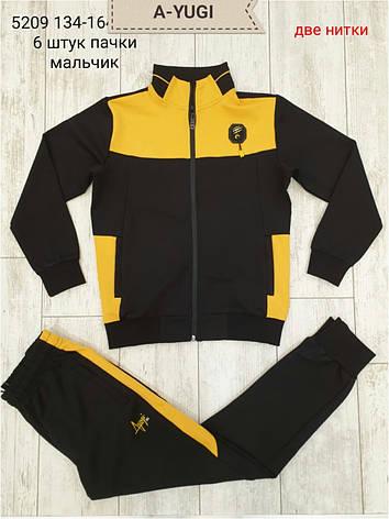 Спортивный костюм A-YUGI для мальчиков 146,152 роста Черный, фото 2